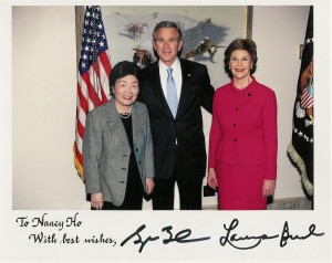 Nancy Ho, George Bush, Laura Bush